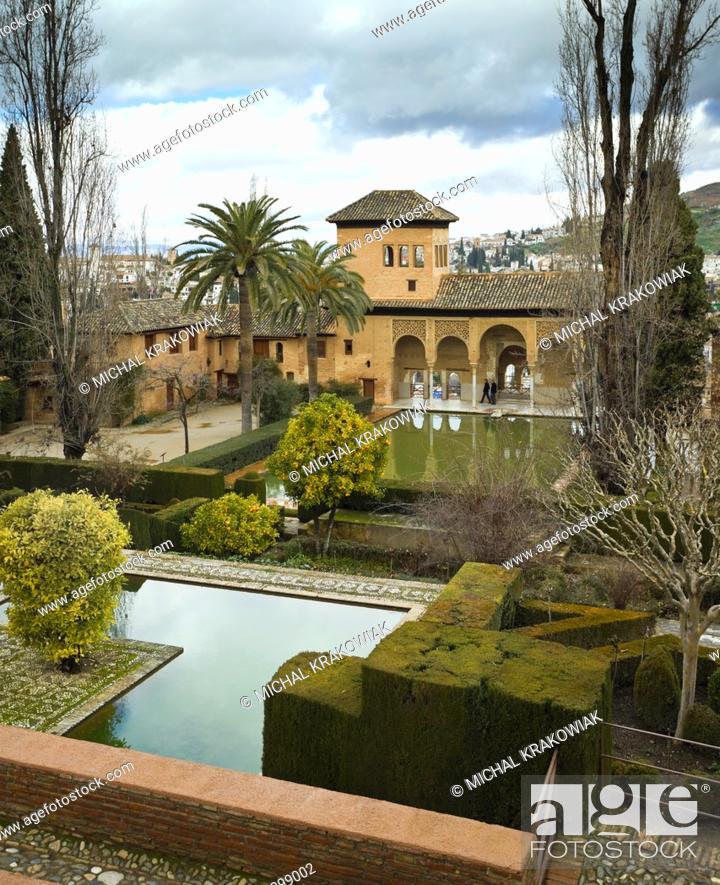 Stock Photo: Partal in Alhambra complex in Granada, Spain.