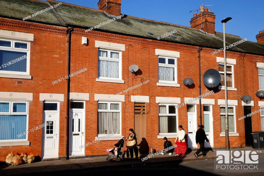 Stock Photo: Street in Leicester.