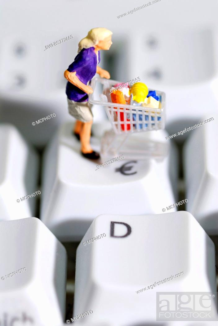 Stock Photo: Online-Shopping.