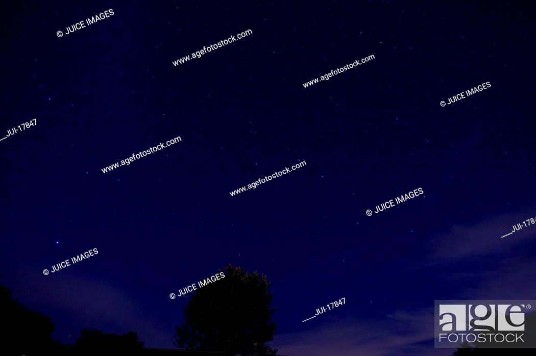 Stock Photo: Night sky with stars.