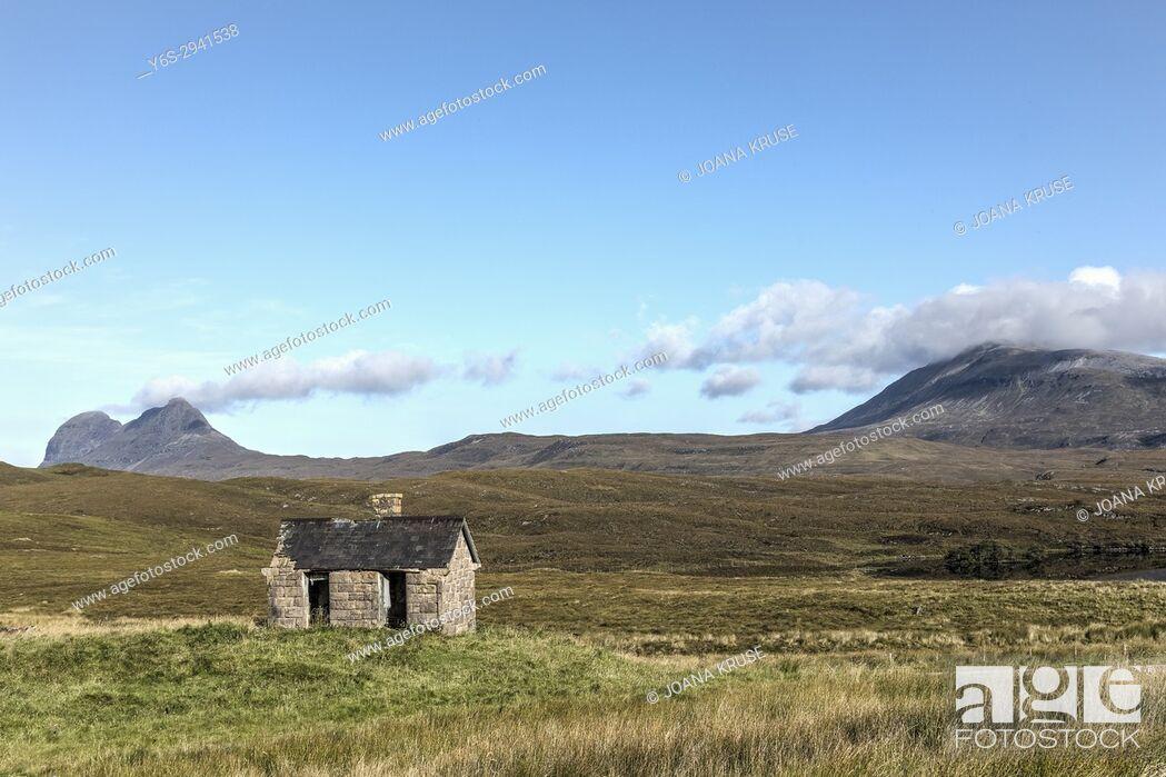 Stock Photo: Elphin, Assynt, Sutherland, Scotland, United Kingdom.