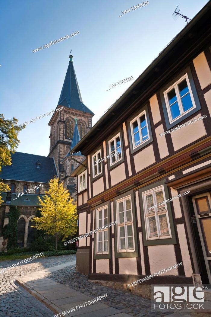 Stock Photo: St. Sylvestri Church in Wernigerode, Saxony-Anhalt, Germany, Europe.