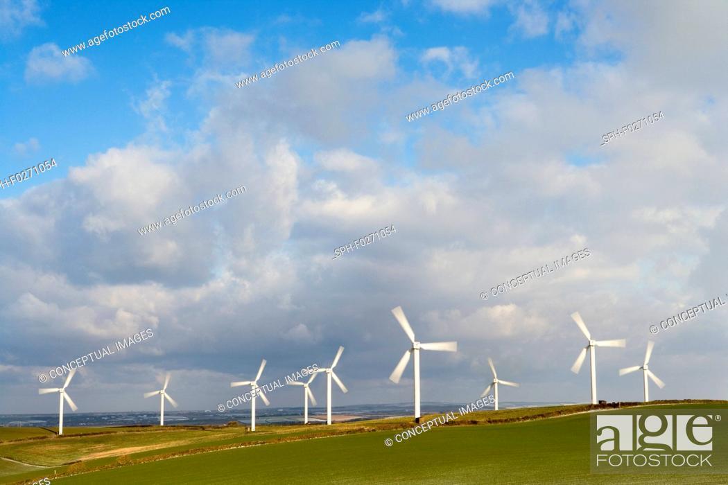 Photo de stock: Windfarm.