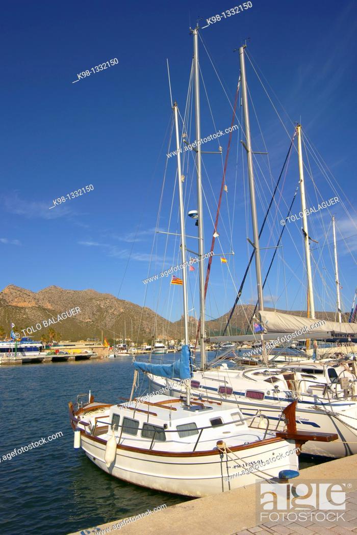 Stock Photo: Port de Pollensa Mallorca Balearic islands Spain Nord.