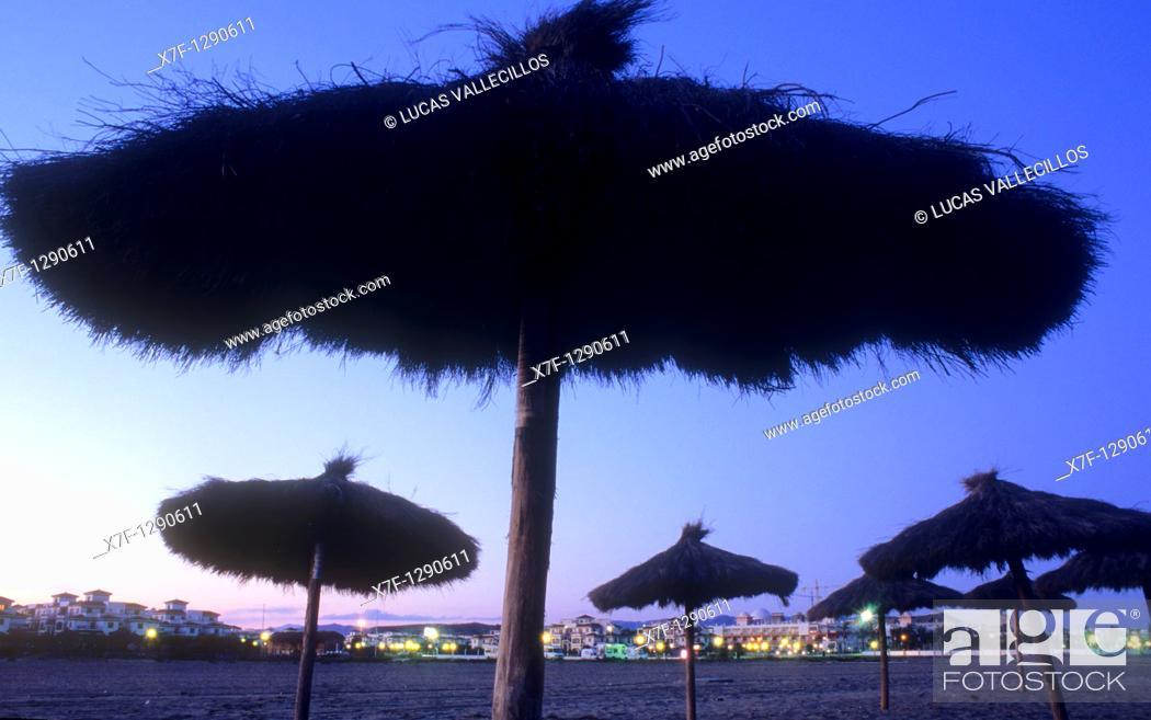 Stock Photo: El Playazo Beach, Vera, Almeria province, Andalucia, Spain.