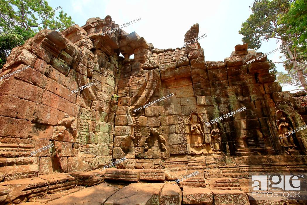 Photo de stock: rchitectural detail, Angkor Temples, Cambodia.