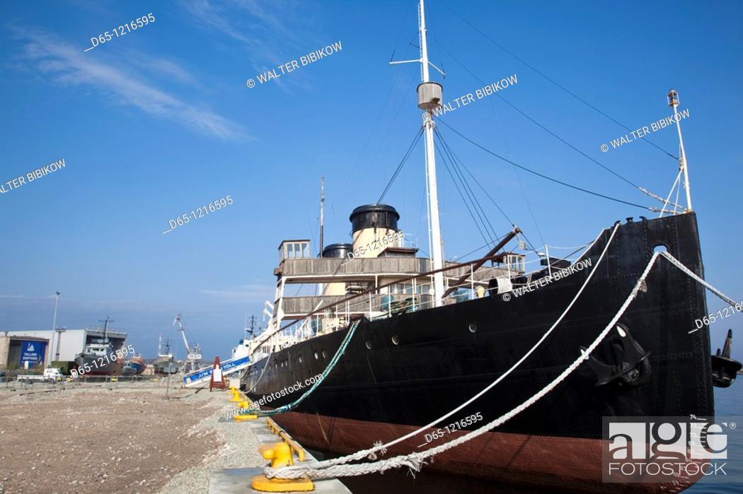 Stock Photo: Estonia, Tallinn, Estonian Maritime Museum, Europe's largest steam-powered icebreaker, Suur Toll  b  1914.