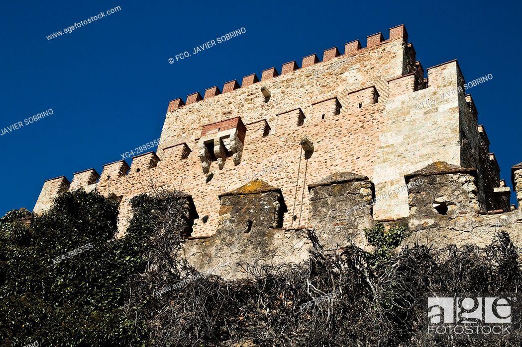 Stock Photo: Castle of Henry II of Trastámara, now a Parador Nacional (State-run hotel). Salamanca, Castile-Leon, Spain.