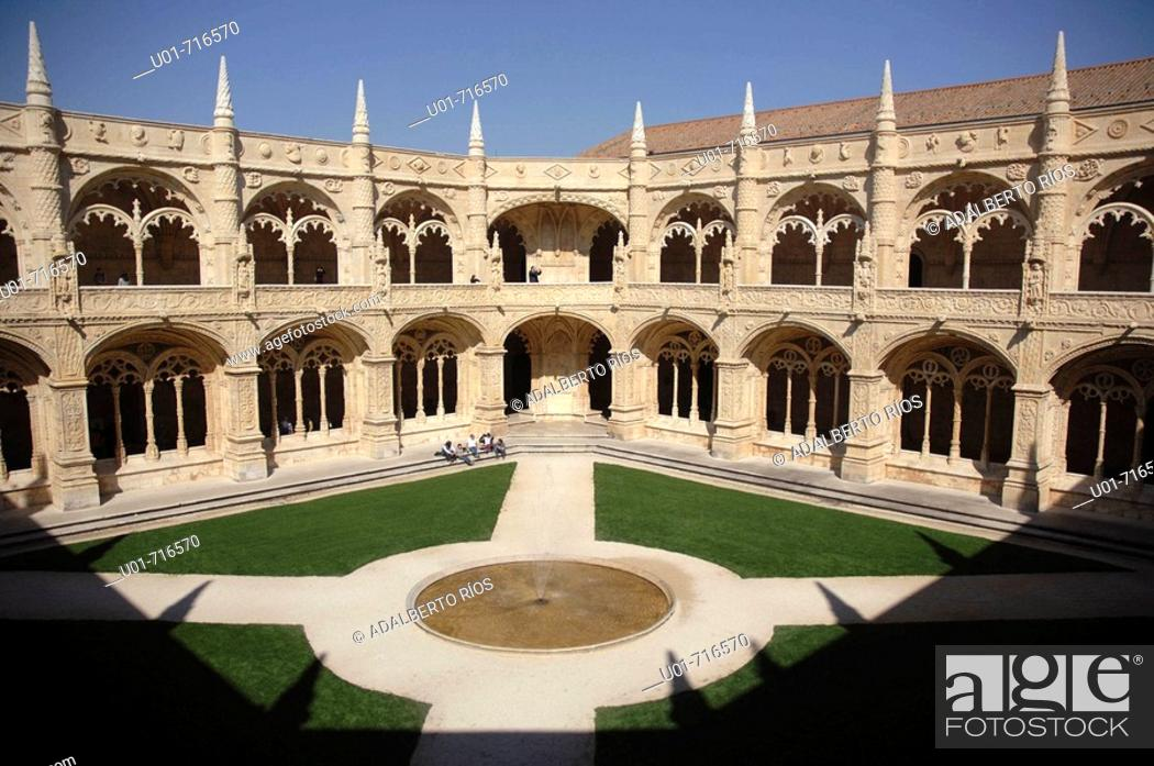 Stock Photo: Cloister of Monastery of the Hieronymites. Belem. Lisbon. Portugal.