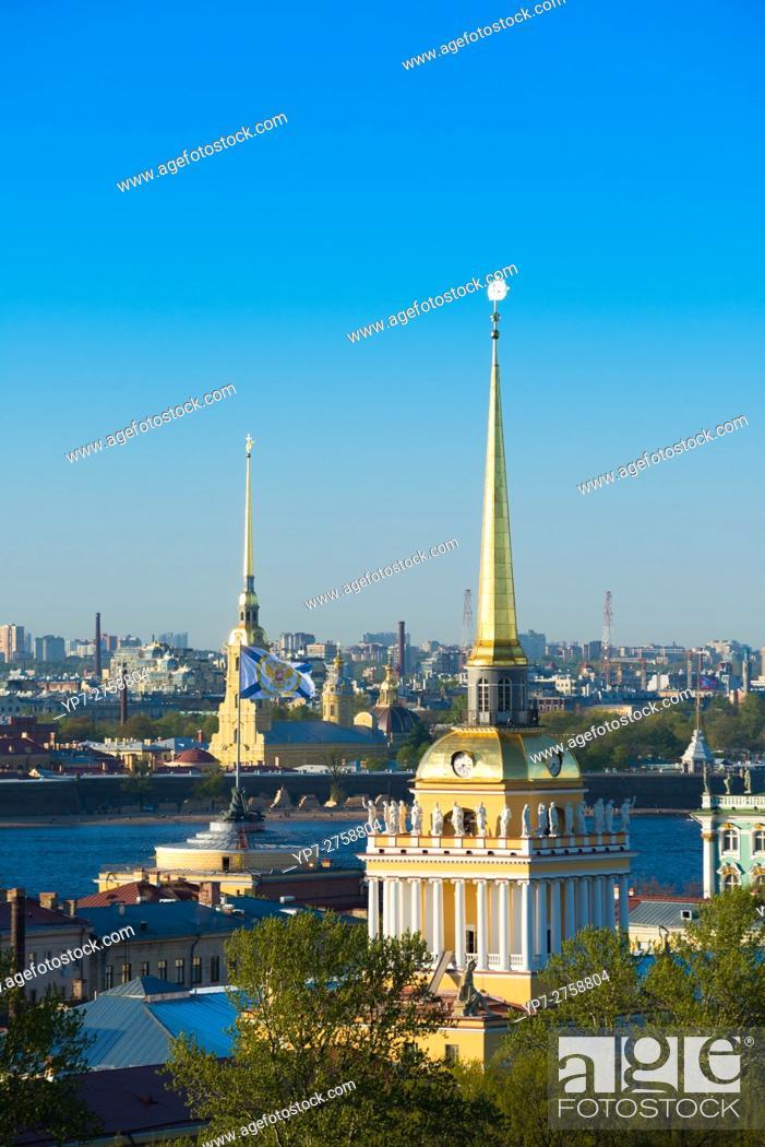 Imagen: Admiralty Spire And St Petersburg Skyline.