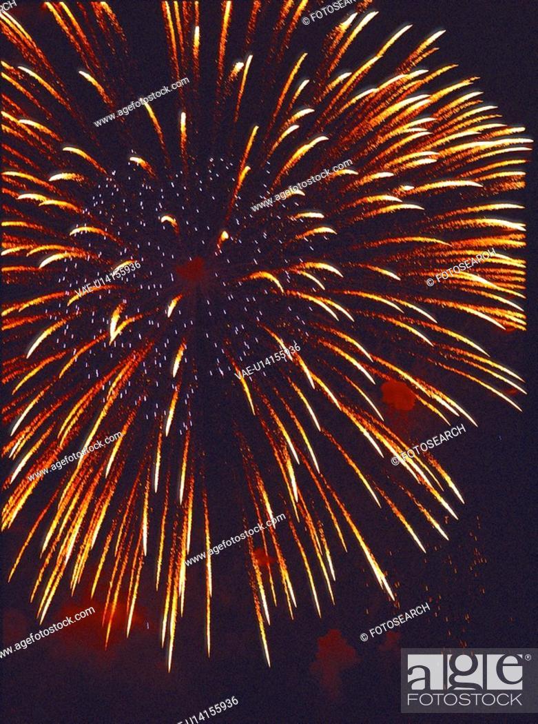 Stock Photo: city scenery, event, city, landscape, scenery, fireworks.
