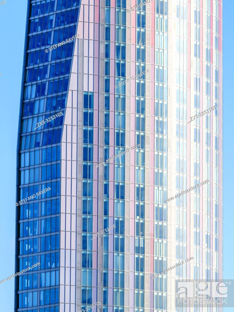 Stock Photo: Stratford Halo residential tower block - East London, England.