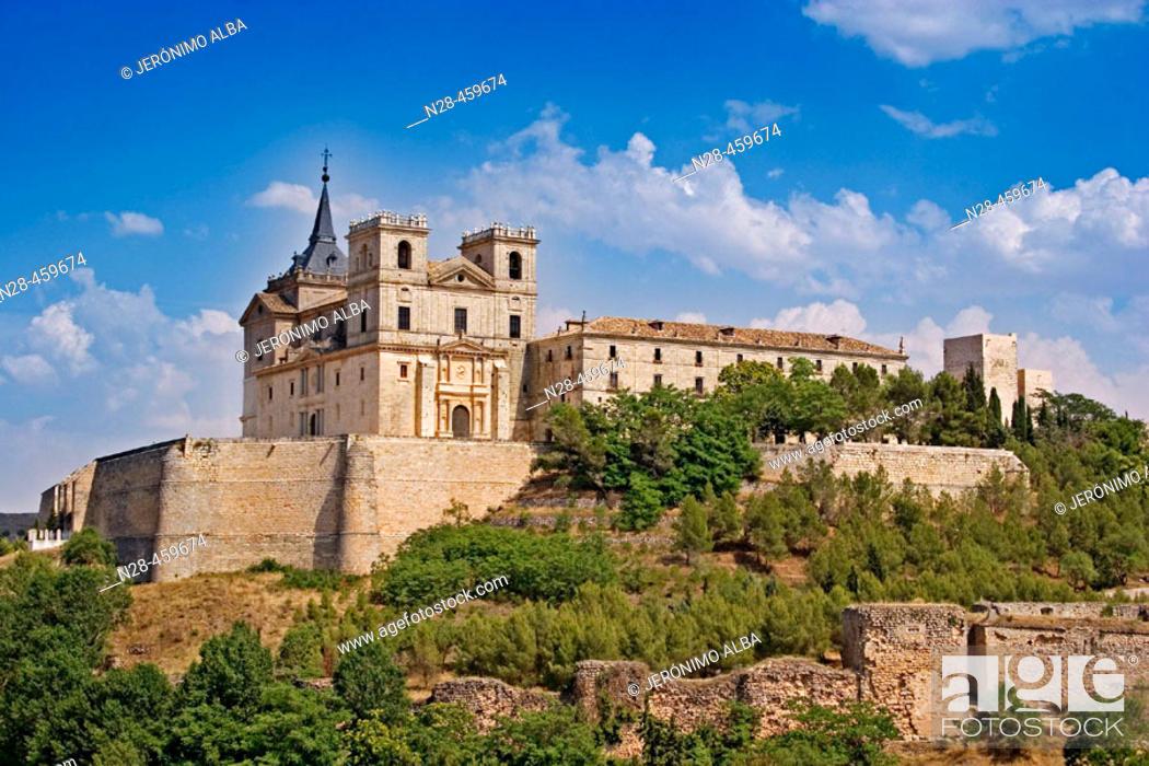 Stock Photo: Monastery of Uclés. Cuenca province, Castilla-La Mancha, Spain.