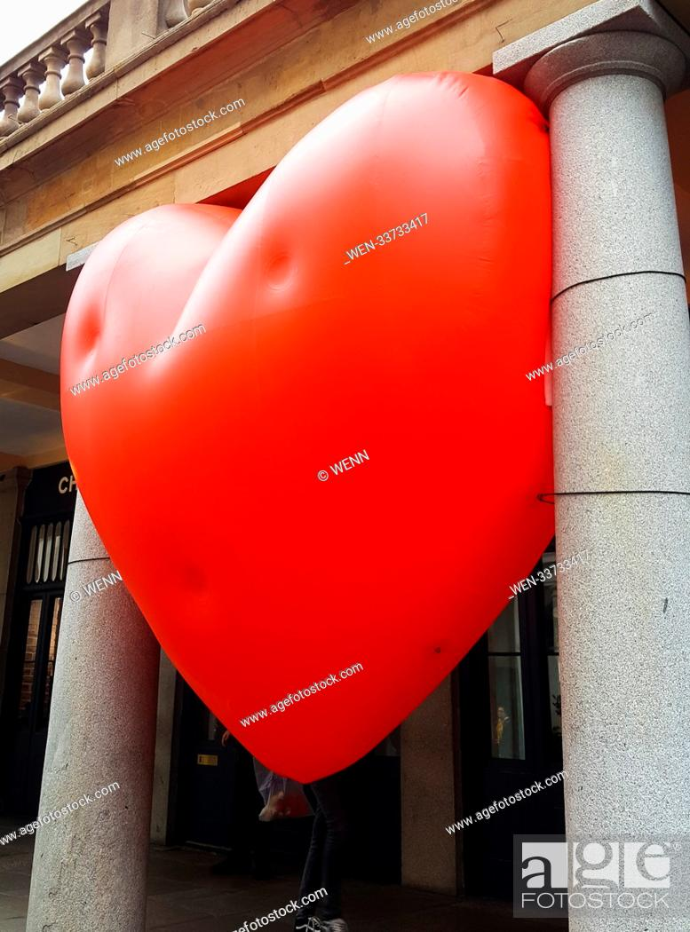 A Giant Inflatable Heart Balloon In Covent Garden As Part Of