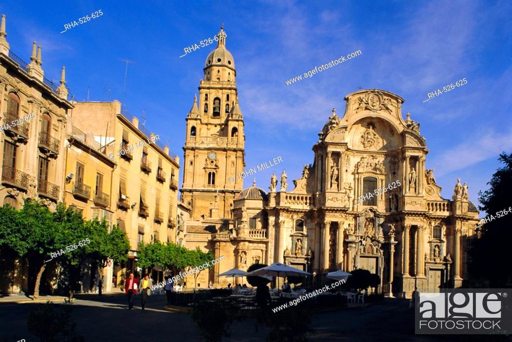 Stock Photo: The Cathedral in Murcia, Murcia, Spain, Europe.