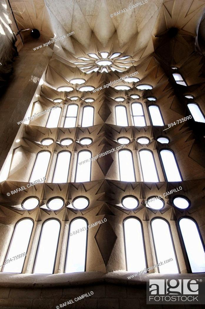 Stock Photo: Detail of Sagrada Familia temple by Gaudi, Barcelona. Catalonia, Spain.