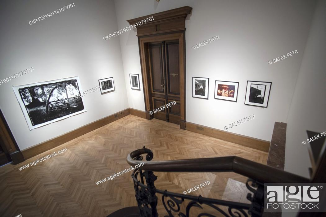 """Stock Photo: A part of the """"""""A Series of Utterly Improbable, Yet Extraordinary Renditions"""""""" exhibition by US artist Arthur Jafa is seen in the Rudolfinum Gallery in Prague."""