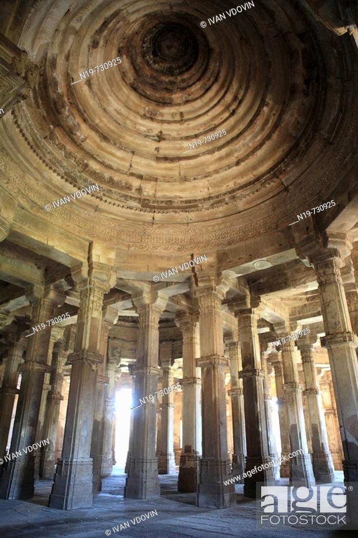 Stock Photo: Mosque (15th-16th century), UNESCO World Heritage site, Champaner, India.