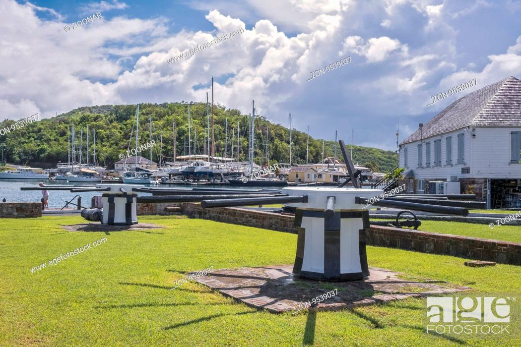 Stock Photo: Capstans At Nelson's Dockyard English Harbour Antigua.