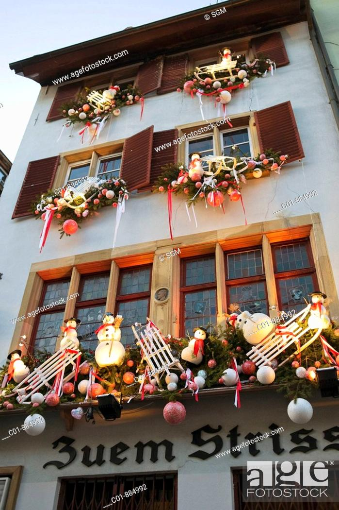 Stock Photo: Christkindelsmärik, Christmas market, Strasbourg, Alsace, France.
