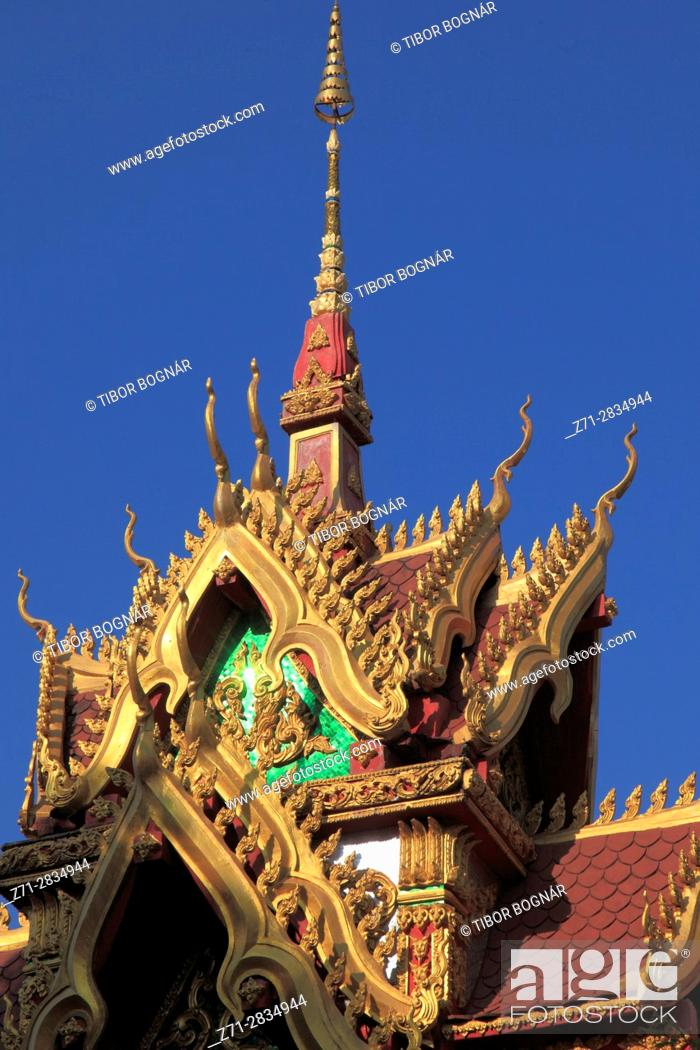 Stock Photo: Laos, Vientiane, Wat Inpeng, buddhist temple,.