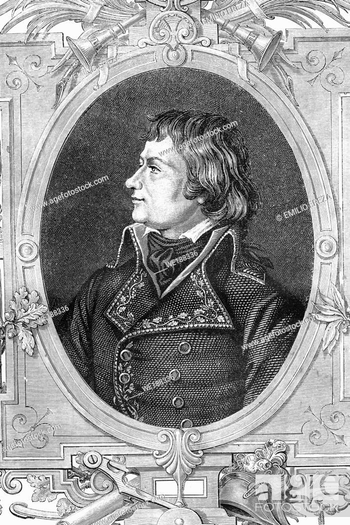 Imagen: Laurent de Gouvion Saint-Zir. Marshal of France and marquis. French revolutionary wars. 1764-1830. Antique illustration. 1890.