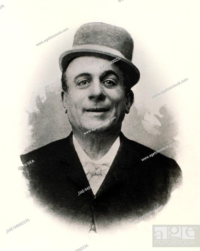 Photographic portrait of Eduardo Scarpetta (Naples, 1853-1925), actor and  Italian dialect playwright, Stock Photo, Picture And Rights Managed Image.  Pic. DAE-94002376