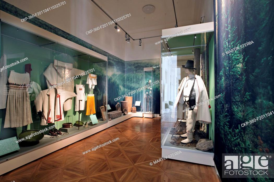 Stock Photo: The ethnographical exhibition of the folk culture of the Czech Republic region in Musaion - National Museum Ethnographical Exhibition, Kinsky Summer Palace.