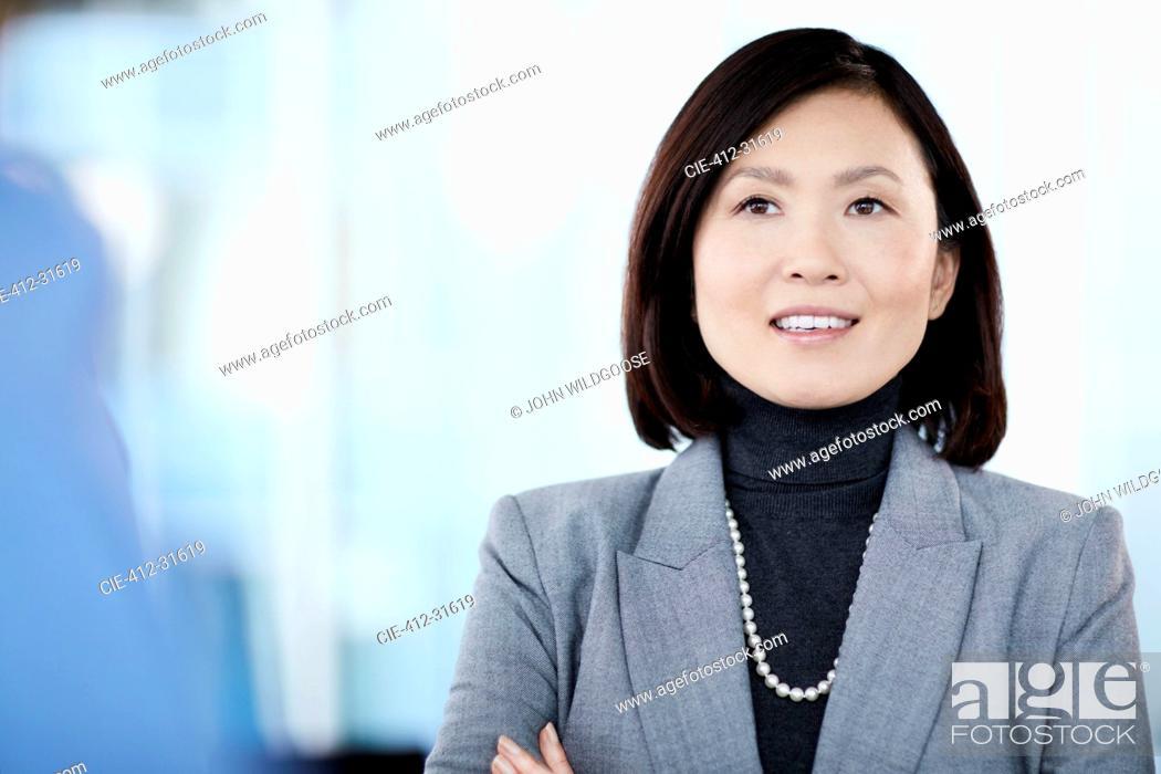 Stock Photo: Smiling businesswoman.