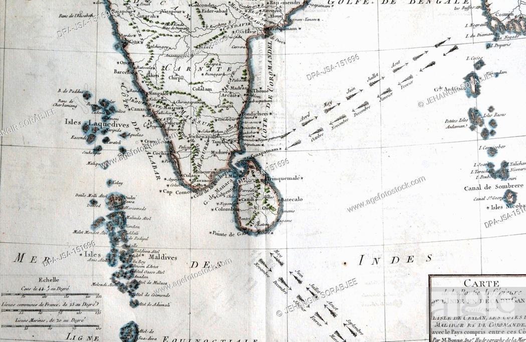 Carte De Linde Avec Le Gange.India Map Carte De La Partie Inferieure De Linde En Deca Du Gange