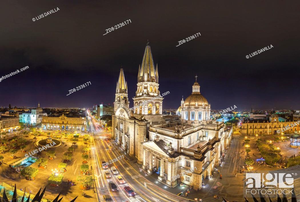 Stock Photo: Guadalajara Cathedral.