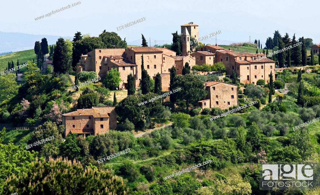 Stock Photo: Tuscan village.