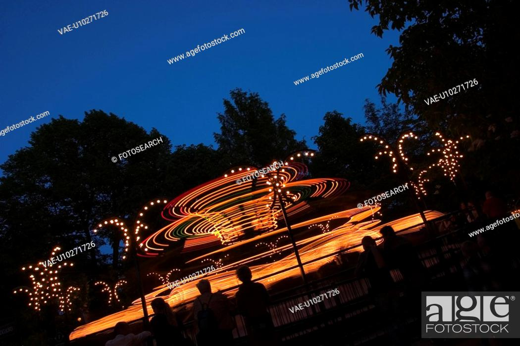 Stock Photo: Bright, Light, Glow, Amusement Park.
