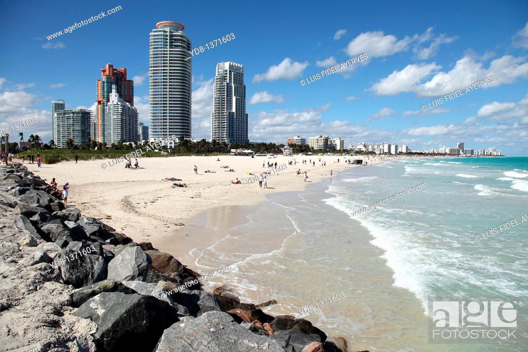 Stock Photo: Panoramic view of Miami Beach, Florida, USA.