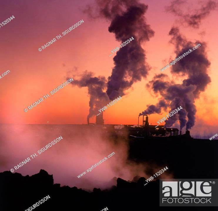 Stock Photo: Svartsengi Geothermal Power Plant, Iceland.