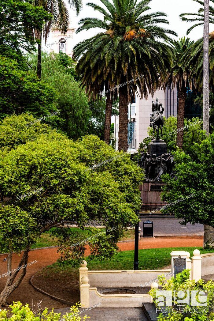 Stock Photo: Central square, Plaza 9 de Julio, Salta, Argentina.