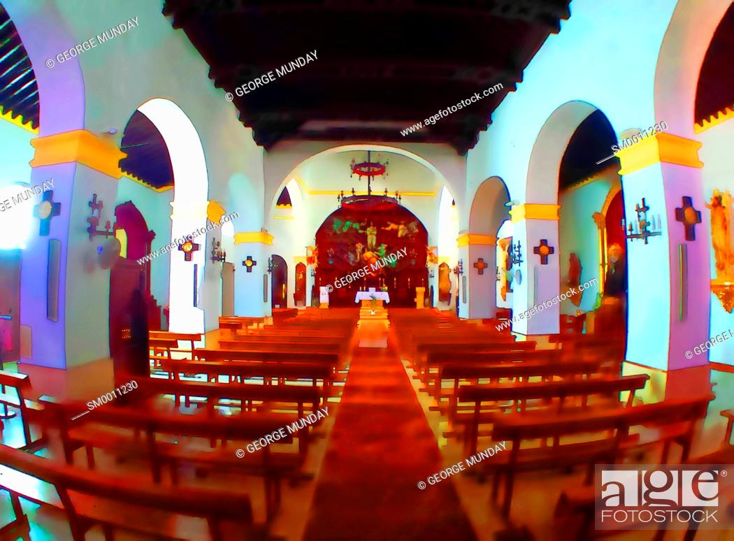Photo de stock: Church of La Asuncion, Competa,.