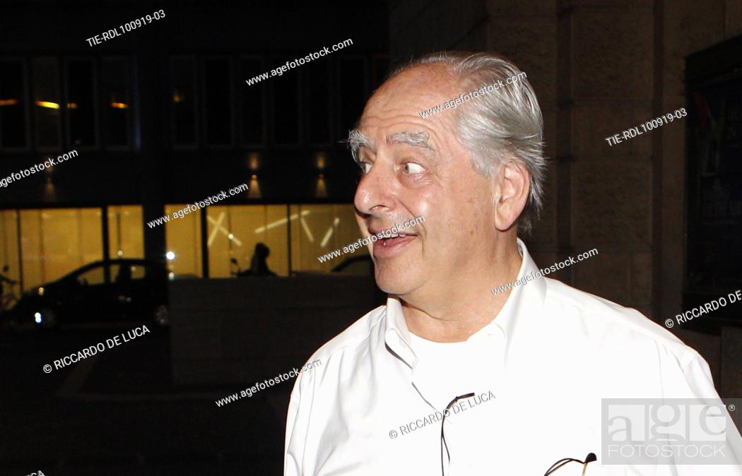 Stock Photo: The director William Kentridge arrives at the Premiere of theatrical performance ' Waiting for the Sibyl ' at Opera Theatre of Rome, ITALY-10-09-2019.