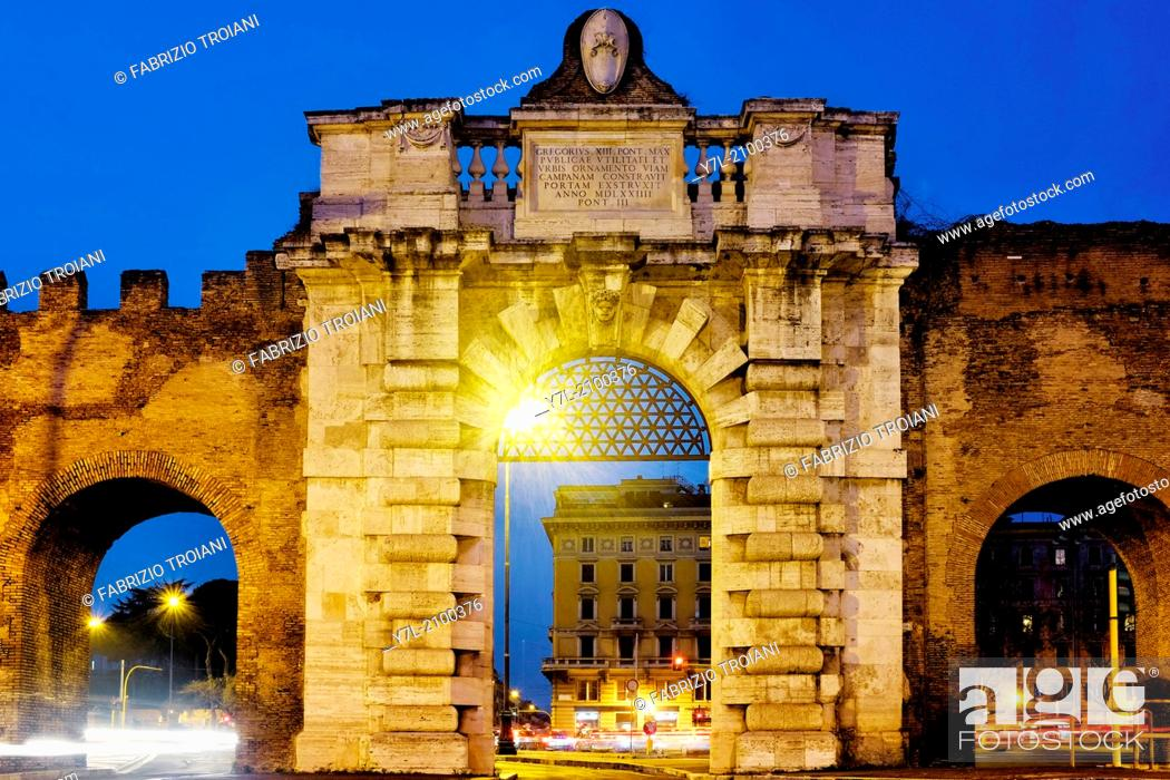 Stock Photo: Porta San Giovanni, Rome Italy.