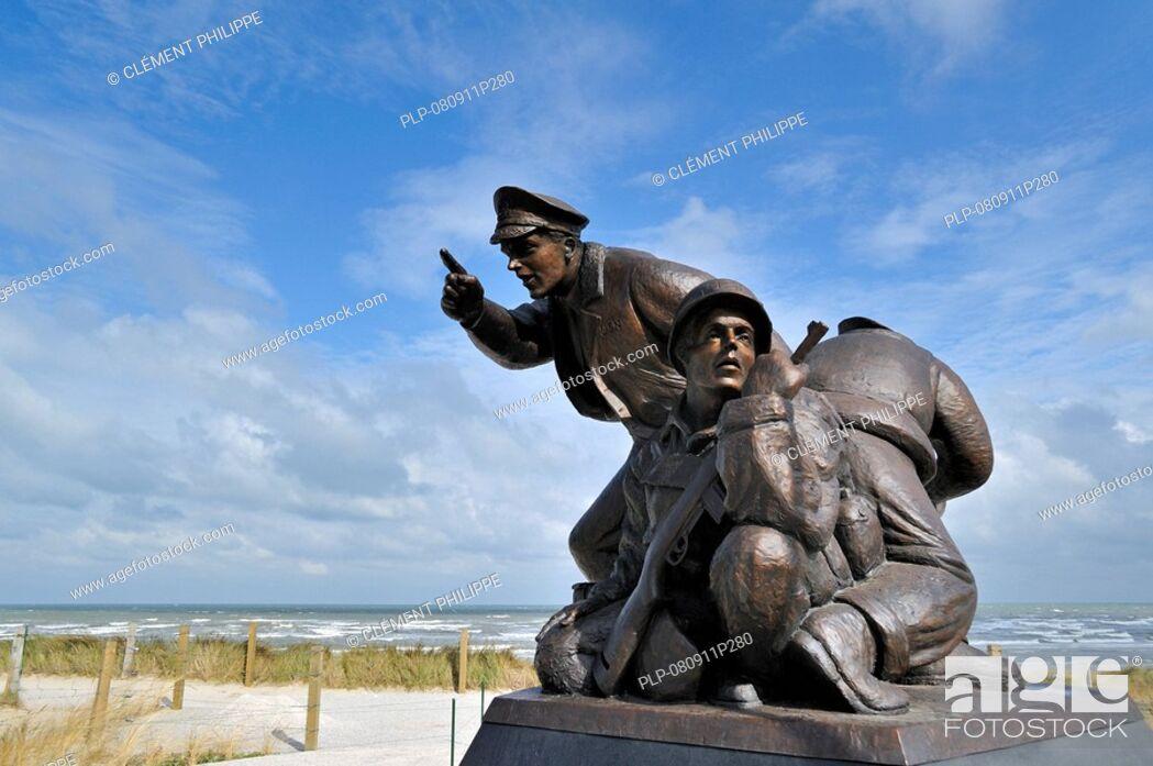 Stock Photo The U S Navy D Day Monument Near Utah Beach Landing Museum