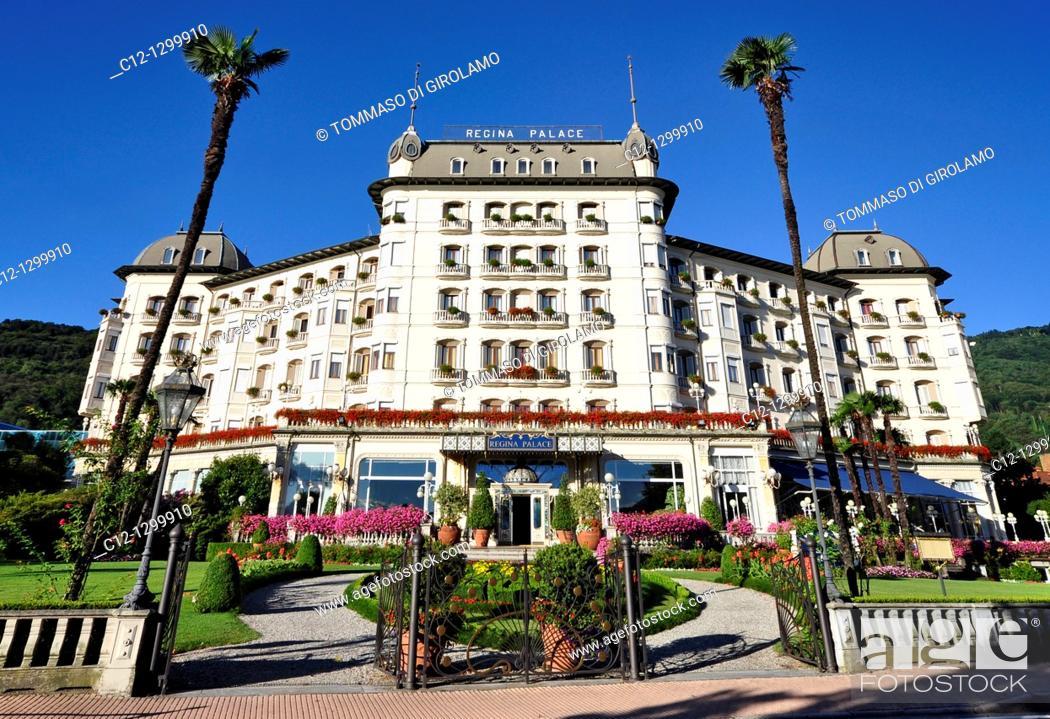 Stock Photo: Regina Palace Hotel, Stresa, Lago Maggiore, Italy.
