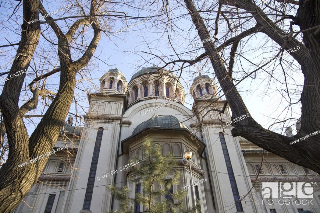 Stock Photo: Madonna Dudu Orthodox church in Craiova Romania on March 17, 2017 in Romania.