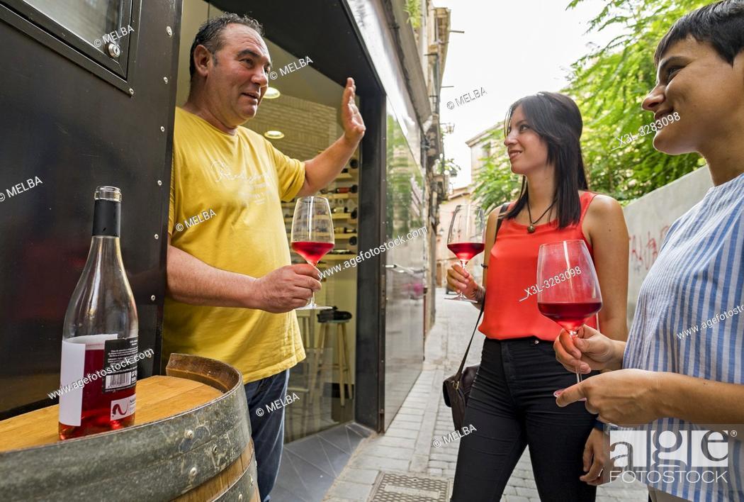 Stock Photo: Vinoteca, shop wine, in Tudela. Navarre. Spain.