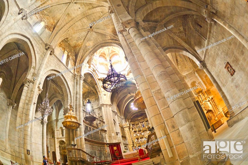 Stock Photo: Orense Cathedral, 13th Century Romanesque-Gothic Style, Good of Cultural Interest, Historic-Artistic Monument, Orense, Galicia, Spain, Europe.
