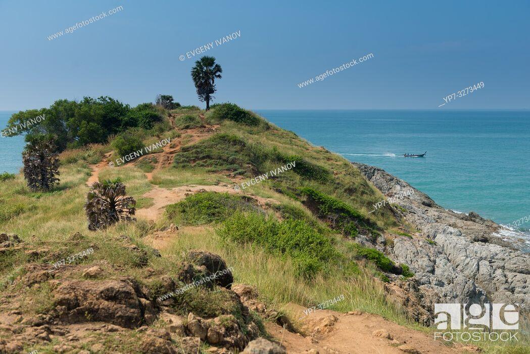 Stock Photo: Natural trail on Promthep cape, Phuket, Thailand.