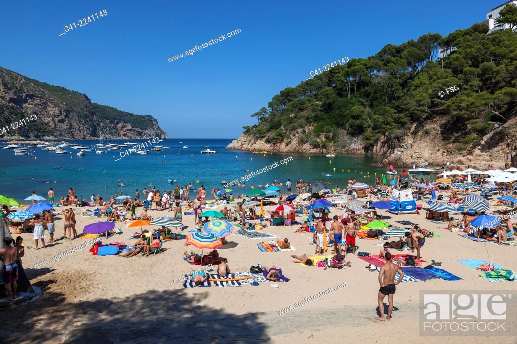 Stock Photo Beach Of Aiguablava Begur Costa Brava Girona Spain