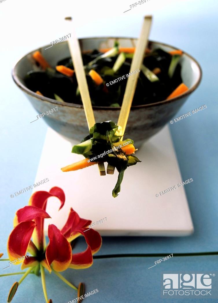 Stock Photo: Alga salad.
