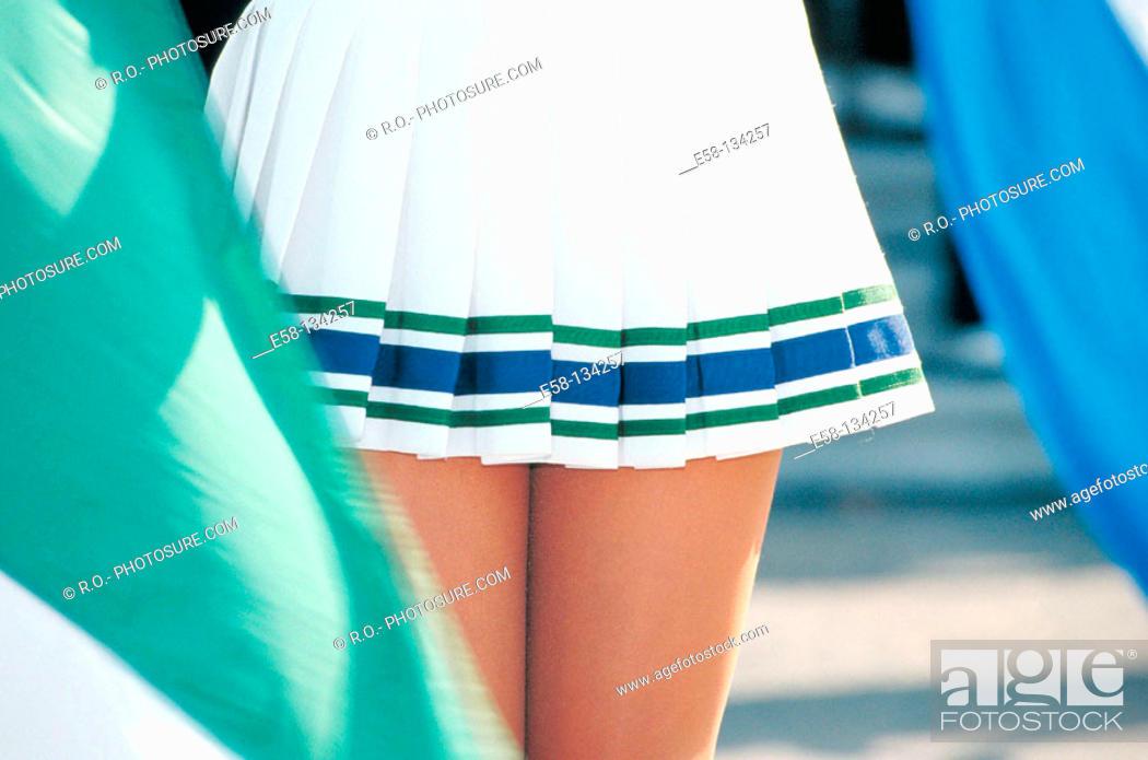 Stock Photo: Female tennis player.