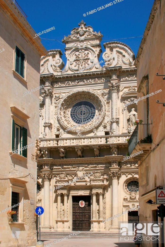 Stock Photo: italy, lecce, santa croce cathedral.