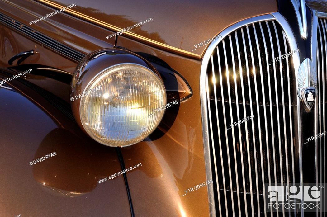 Stock Photo: 1937 Plymoth P4 Sedan.